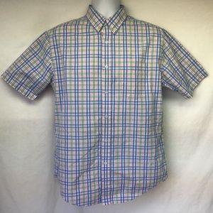 Croft & Barrow Men Shirt Plaid Short Sleeve M